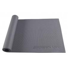 Коврик (мат) для йоги та фітнесу SportVida PVC 6 мм SV-HK0054 Grey