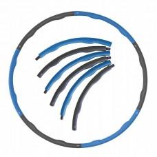 Обруч масажний Hula Hoop SportVida 100 см 1.2 кг SV-HK0157 Grey/Blue