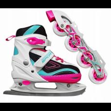 Роликові ковзани SportVida 4 в 1 SV-LG0031 Size 31-34 Pink/Blue