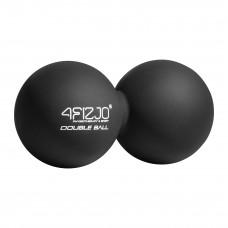 Масажний м'яч подвійний 4FIZJO Lacrosse Double Ball 6.5 x 13.5 см 4FJ1226 Black