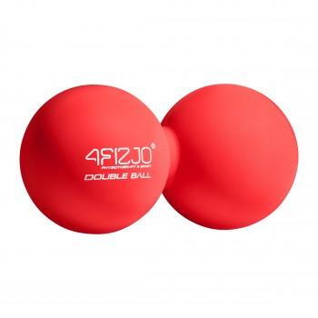 Масажний м'яч подвійний 4FIZJO Lacrosse Double Ball 6.5 x 13.5 см 4FJ1219 Red