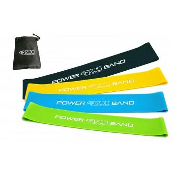 Резинка для фітнесу та спорту (стрічка-еспандер) 4FIZJO Mini Power Band 4 шт 1-20 кг 4FJ1042