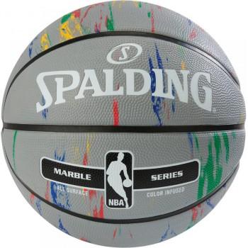 М'яч баскетбольний Spalding NBA Marble Outdoor Grey/Multi-Color Size 7