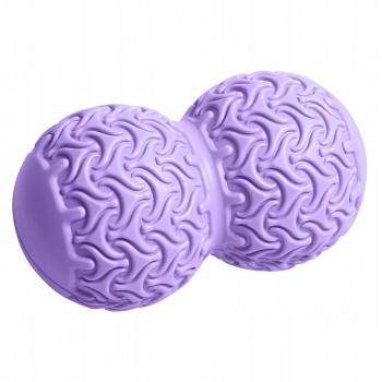 Масажний м'яч подвійний SportVida Massage Duoball 10 x 18 см SV-HK0235 Purple