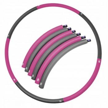 Обруч масажний Hula Hoop SportVida 90 см SV-HK0215 Grey/Pink
