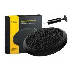 Балансувальна подушка (сенсомоторна) масажна 4FIZJO MED+ 4FJ0051 Black