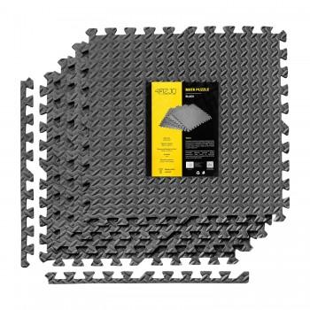 Мат-пазл (ласточкин хвіст) 4FIZJO Mat Puzzle EVA 120 x 120 x 1 cм 4FJ0060 Black