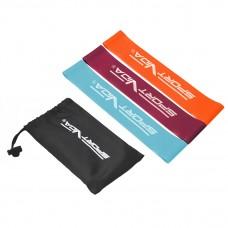 Резинка для фітнесу та спорту (стрічка-еспандер) SportVida Mini Power Band 3 шт 0-15 кг SV-HK0205-1