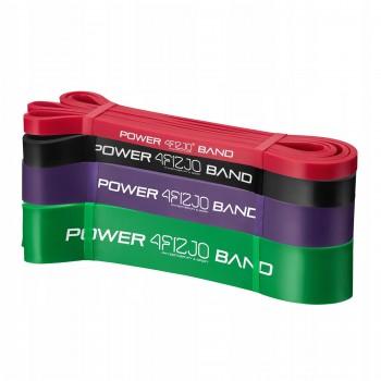 Еспандер-петля (резинка для фітнесу і спорту) 4FIZJO Power Band 4 шт 6-36 кг 4FJ0063