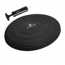 Балансувальна подушка (сенсомоторна) масажна Springos PRO FA0084 Black