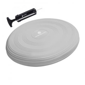 Балансувальна подушка (сенсомоторна) масажна Springos PRO FA0087 Grey