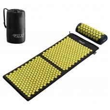 Килимок акупунктурний з валиком 4FIZJO Аплікатор Кузнєцова 128 x 48 см 4FJ0087 Black/Yellow