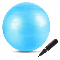 М'яч для фітнесу (фітбол) Springos 55 см Anti-Burst FB0001 Sky Blue