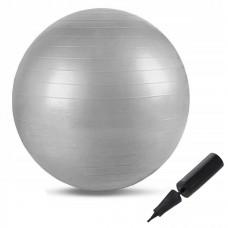 М'яч для фітнесу (фітбол) Springos 75 см Anti-Burst FB0003 Grey