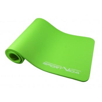 Коврик (мат) для йоги та фітнесу SportVida NBR 1.5 см SV-HK0250 Green
