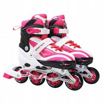 Роликові ковзани SportVida SV-LG0042 Size 31-34 White/Pink