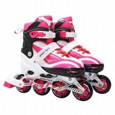 Роликові ковзани SportVida SV-LG0043 Size 35-38 White/Pink