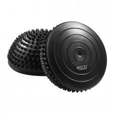 Півсфера масажна балансувальна (масажер для ніг, стоп) 4FIZJO Balance Pad 16 см 4FJ0108 Black