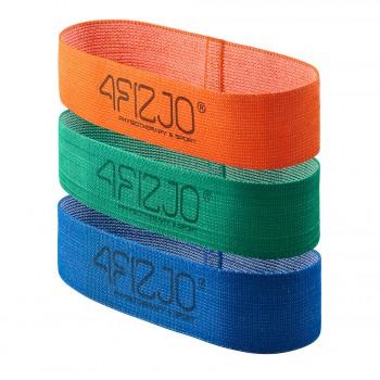Резинка для фітнесу та спорту із тканини 4FIZJO Flex Band 3 шт 1-15 кг 4FJ0126