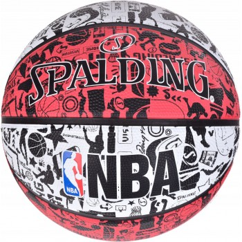 М'яч баскетбольний Spalding NBA Graffiti Outdoor White/Red Size 7