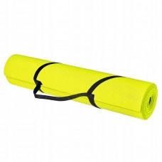 Коврик (мат) для йоги та фітнесу Springos PVC 4 мм YG0008 Yellow