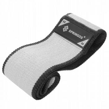 Резинка для фітнесу та спорту із тканини Springos Hip Band Size M FA0114