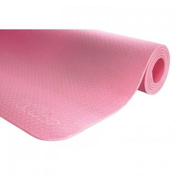 Коврик (мат) для йоги та фітнесу 4FIZJO TPE 6 мм 4FJ0152 Pink