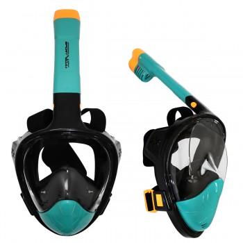 Маска для снорклінгу (плавання) SportVida SV-DN0020 Size S/M Black/Navy Blue