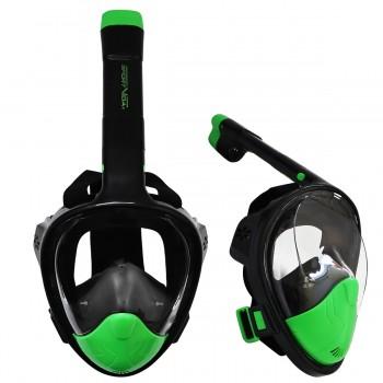 Маска для снорклінгу (плавання) SportVida SV-DN0023 Size L/XL Black/Green
