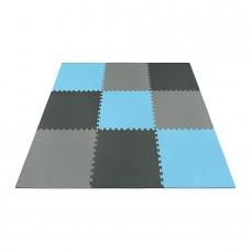 Мат-пазл (ласточкин хвіст) 4FIZJO Mat Puzzle EVA 180 x 180 x 1 cм 4FJ0156 Black/Grey/Light Blue