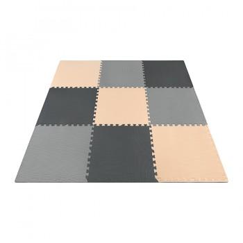 Мат-пазл (ласточкин хвіст) 4FIZJO Mat Puzzle EVA 180 x 180 x 1 cм 4FJ0158 Black/Grey/Biege