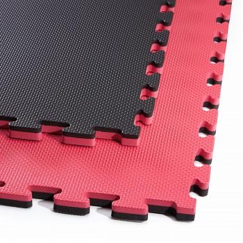 Мат-пазл (ласточкин хвіст) 4FIZJO Mat Puzzle EVA 100 x 100 x 2 cм 4FJ0168 Black/Red
