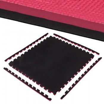 Мат-пазл (ласточкин хвіст) Springos Mat Puzzle EVA 100 x 100 x 2 cм FM0007 Black/Red