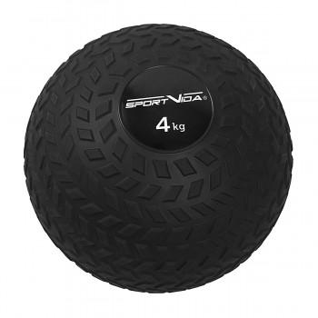 Слембол (медичний м'яч) для кросфіту SportVida Slam Ball 4 кг SV-HK0346 Black