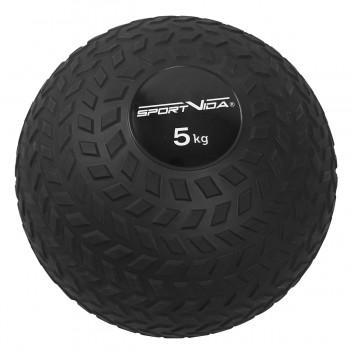 Слембол (медичний м'яч) для кросфіту SportVida Slam Ball 5 кг SV-HK0347 Black