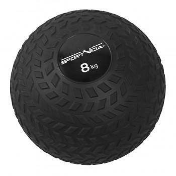 Слембол (медичний м'яч) для кросфіту SportVida Slam Ball 8 кг SV-HK0350 Black