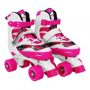 Роликові ковзани (квади) SportVida SV-LG0054 Size 31-34 White/Pink
