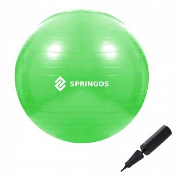 М'яч для фітнесу (фітбол) Springos 65 см Anti-Burst FB0007 Green