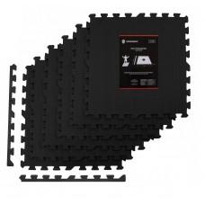 Мат-пазл (ласточкин хвіст) Springos Mat Puzzle EVA 180 x 120 x 1.2 cм FM0003 Black