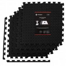 Мат-пазл (ласточкин хвіст) Springos Mat Puzzle EVA 120 x 120 x 1.2 cм FM0004 Black