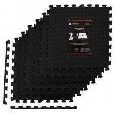 Мат-пазл (ласточкин хвіст) Springos Mat Puzzle EVA 180 x 120 x 1.2 cм FM0005 Black