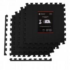 Мат-пазл (ласточкин хвіст) Springos Mat Puzzle EVA 120 x 120 x 2 cм FM0001 Black