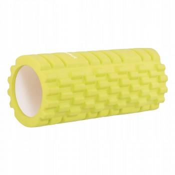 Масажний ролик (валик, роллер) Springos 33 x 14 см FR0015 Yellow