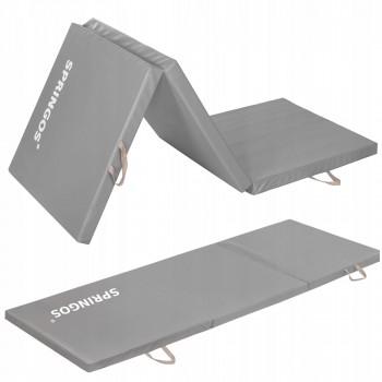 Мат гімнастичний складний Springos 180 x 60 x 5 cм 5.5 cм FA0062 Grey