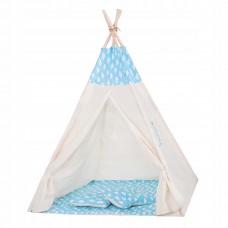 Дитячий намет (вігвам) Springos Tipi XXL TIP05 White/Sky Blue