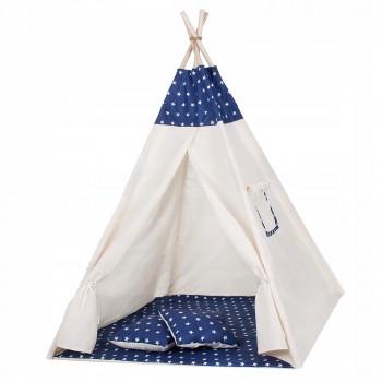 Дитячий намет (вігвам) Springos Tipi XXL TIP08 White/Blue