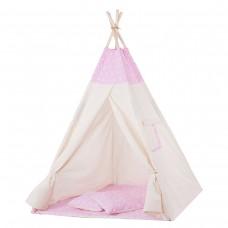 Дитячий намет (вігвам) Springos Tipi XXL TIP12 White/Pink