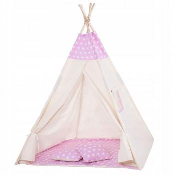 Дитячий намет (вігвам) Springos Tipi XXL TIP09 White/Pink