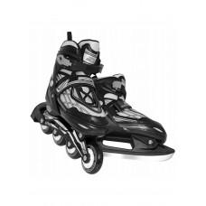 Роликові ковзани SportVida 4 в 1 SV-LG0064 Size 35-38 Black/Grey