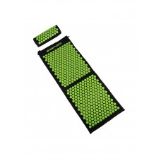 Килимок акупунктурний з валиком SportVida Аплікатор Кузнєцова 130 x 50 см SV-HK0353 Black/Green